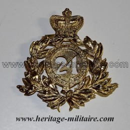 """Insigne de casque Britannique du """"24ème régiment à pied"""" 1879"""