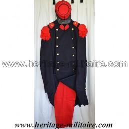 "Set of complete uniform  Capote Infantry French ""Piou Piou"" Napoleon III"