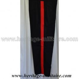 Pantalon d'officier français noir bande rouge Napoleon III