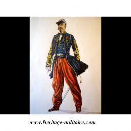 Pantalon d'officier Zouave Français Napoléon III