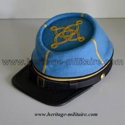 Képi CS officier Infanterie 1861 bleu ciel clair