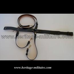 Belt, sword and shoulder reinforcements.