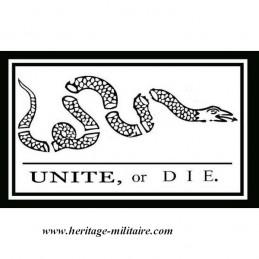 """Drapeau USA Unite or Die """"1777"""""""