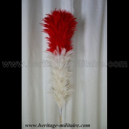 Feather white and red 50 cm