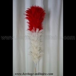 Plumet blanc et rouge 50 cm