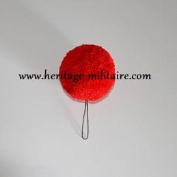 Pompom rouge pour shako