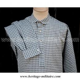 Chemise à carreaux grise