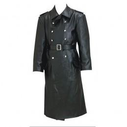 Grand pardessus en cuir officier Allemand WWII