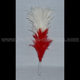 Feather Red / White 25 cm with iron rod shako