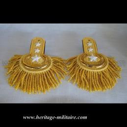 Épaulettes d'officier de parade dorées à franges 1832-1871 USA