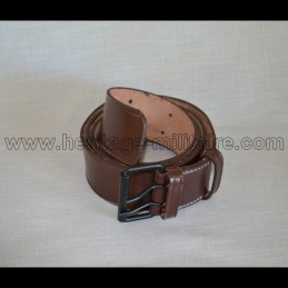 Leather belt brown France 14-18