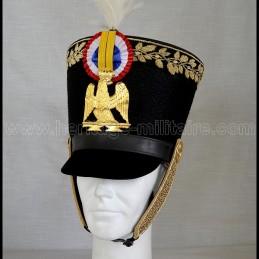 Shako d'officier d'infanterie de la garde 1805 Napoléon 1er