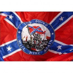 "Flag confederate ""The south will rise again"""