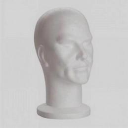 Tête pour support de coiffe en polystyrène