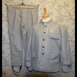 """Set uniforme de sous-marinier en cuir équipage """"U-Boat"""" Allemand WWII"""