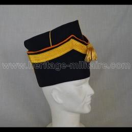 Bonnet de police officier ingénieur géographe Napoléon 1er