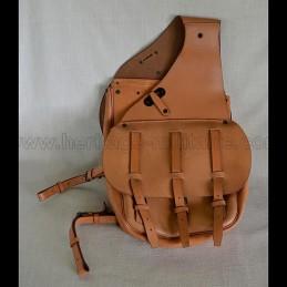 US WWI leather saddlebags