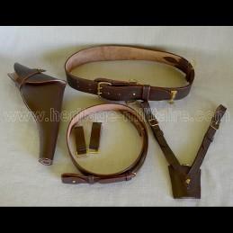 """English officer belt set """"Sam Browne"""" mod 1860 UK WWI WWII"""