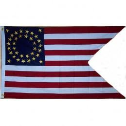 Drapeau de l'union 35 étoiles guidon cavalerie 1860 COTON