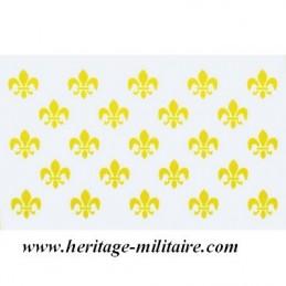 White flag 23 heraldic lily