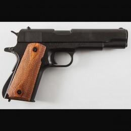 Pistolet  1911 noir / bois Denix