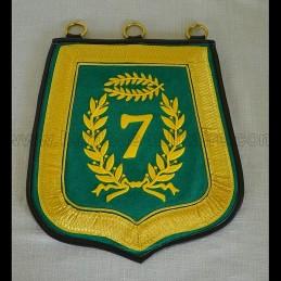 Sabretache 7ème hussard troupe brodée N1er