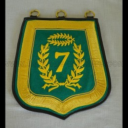 Sabretache 7th hussard embroidered mod troop N1er