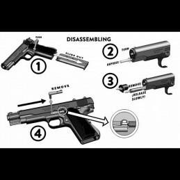 Pistolet  1911 noir Denix