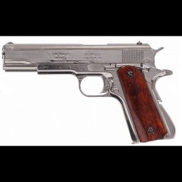 Pistolet  1911 Nickelé démontable Denix