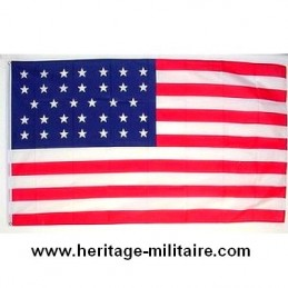"Union flag normal 34 stars ""1861 - 1863"" COTTON"