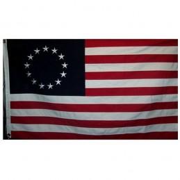 "Drapeau Betsy Ross ""1777"" COTON"