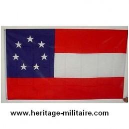1er Drapeau confédéré COTON