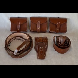 Brown leather full set France 14-18 WWI