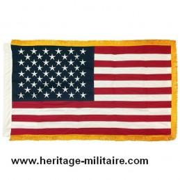 Drapeau coton USA 50 étoiles avec franges dorées
