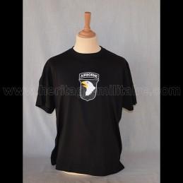"""T-Shirt """"101 St Airbone NOIR"""" USA WWII"""