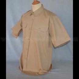 Chemise militaire beige manche courte