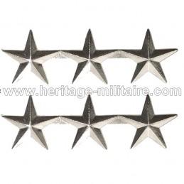 Rank Officer Badge GÉNÉRAL 3 STARS US WWII
