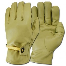 """""""Cow-Boys"""" light yellow leather gloves"""