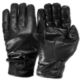 "Cow-Boys"" black leather gloves"