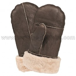 US Airforce B3 brown leather mittens