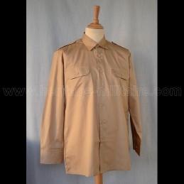Shirt Military Tan Long Sleeve