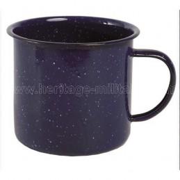 Blue enamel cup